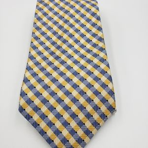 Jones New York Blue and Yellow Patterned Tie.